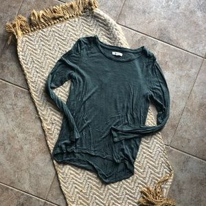 Madewell dark green long sleeve tee